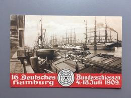 HAMBURG - 16. Deutsches Bundesschiessen - 1909 - Officielle Postkarte - Autres