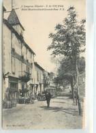 CPA 12 Aveyron Saint Victor St Hotel Montrozies Et Grande Rue (un Peu Grattée Bas Doite Recto) - Saint Victor