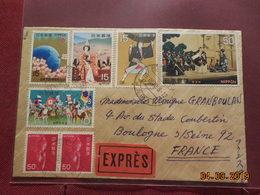 Lettre Sur Papier De Riz De 1970 A Destination De France - 1926-89 Empereur Hirohito (Ere Showa)