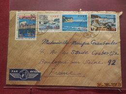 Lettre Sur Papier De Riz De 1972 A Destination De France - 1926-89 Empereur Hirohito (Ere Showa)
