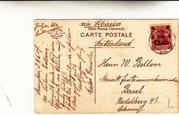 Deutsche Post, China,Cina: Shanghai To Basel Post Card 1907 Via Siberia 1907 - Ufficio: Cina