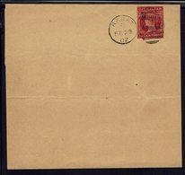Maroc - Bureaux Anglais - Entier Postal 10 C. Morocco Agencies Sur Bande De Journal - Cachet De Rabat 28 Février 1902 - - Morocco Agencies / Tangier (...-1958)