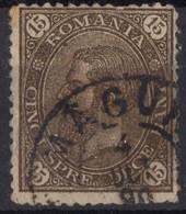 ROUMANIE  Obl 80 Armoirie Verso - 1881-1918: Carol I