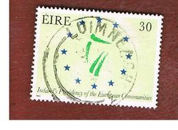 IRLANDA (IRELAND) -  SG 742   -  1990 IRELAND PRESIDENCY OF EUROPEAN UNION  -   USED - 1949-... Repubblica D'Irlanda
