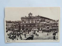 C.P.A. : 59 LILLE : La  Gare, Animé - Lille