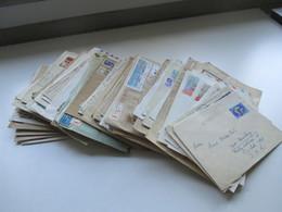 Russland / UDSSR 1960-80er Jahre Belegeposten 165 Stk. Auch Gebiete Ukraine / SSR Lettonie. Rote U. Violette Stempel. - Briefmarken