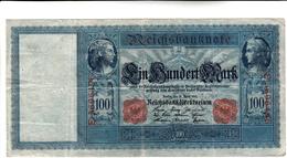 Reichsbanknote 100 Mark 1910 (Pieghe Ma Integra) - [ 2] 1871-1918 : Impero Tedesco