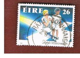 IRLANDA (IRELAND) -  SG 778   -  1990  IRISH MISSIONARIES     -   USED - 1949-... Repubblica D'Irlanda