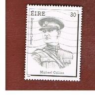 IRLANDA (IRELAND) -  SG 779   -  1990  M. COLLINS, STATESMAN    -   USED - 1949-... Repubblica D'Irlanda