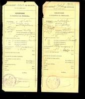 8  DECLARATIONS DE RECOLTE 1913 1914 1916 1919 1921 1926 1927 1933 CERILLY DOMERAT ALLIER DEFOULENAY - 1900 – 1949