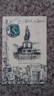 CPA BAR LE DUC MEUSE SOUVENIR STATUE DU MARECHAL OUDINOT DUC DE REGGIO CONFITURE PINEAU BLASON 1909 - Bar Le Duc