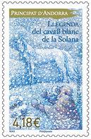 French Andorra 2018 - Llegenda Del Cavall Blanc De La Solana Mnh - Andorra Francesa
