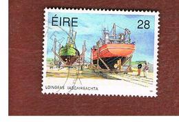 IRLANDA (IRELAND) -  SG 819  -  1991 FISHING FLEET: BOATYARD   -   USED - 1949-... Repubblica D'Irlanda