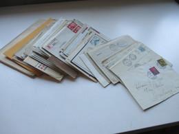 Schweiz 1910 - 40er Jahre Belegeposten 145 Stk.interessante Belege / Karten. 4er Blocks / Firmenbriefe / Stempel Randstk - Collections (without Album)