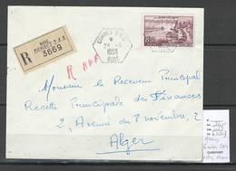 Algerie - Lettre  - Cachet Hexagonal COMBES SAS -  Marcophilie - Algérie (1924-1962)