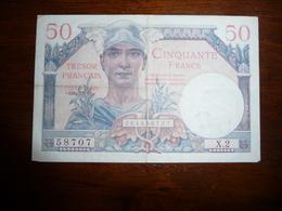 FRANCE * Tresor Français  - 50  Francs   1947 - Treasury