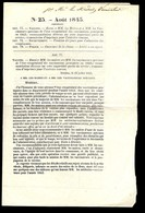 Récapitulatif Des Vaccinations Pratiquées En 1842 Daté Aout 1943 Ed MECHIN Vaccine - Frankrijk