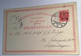 "Iceland ""I GILDI 02-03"" 10 øre Postal Stationery ""ALSHERJAR"" Used 1903 (Ganzsache Cover Island Brief - Storia Postale"