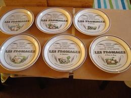 Ensemble Assiettes à Fromage En Fâience De Gien ,plateau + 2 Couteaux - Gien (FRA)