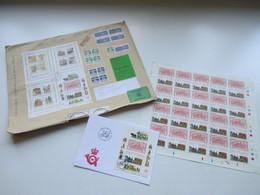 Dänemark 1987 Wertbrief In Die BRD Mit Block 4 - 7 MiF Inhalt: Kompletter Bogen Der Nr. 900. Zollamtl. Abgefertig! - Briefe U. Dokumente