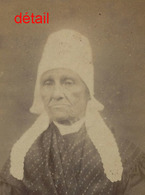 A Voir-CDV-paysanne En Costume Traditionnel? Région à Déterminer-coiffe-photo Boureilier Vers 1870 - Antiche (ante 1900)