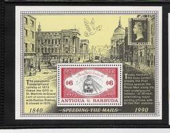 ANTIGUA & BARBUDA, 1990 Stamp World London'90 S/s  MNH - Exposiciones Filatélicas