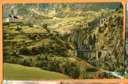 CAL1244, Gotthard Bahn, Viaducte Bei Wassen, 2310, édit. Wehrli, Circulée 1911 FeldPost - UR Uri