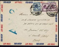 LIBYE - 1954 - Affranchissement Roi Idris 1er à 40 M Sur Enveloppe Par Avion, De Tripoli Pour Grenoble (Fr) B/TB - - Libië