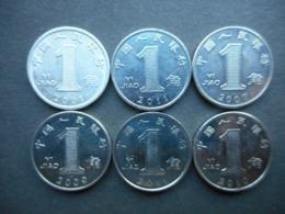 China 1 Jiao 2001-2011 (Lot Of 6 Coins) - China