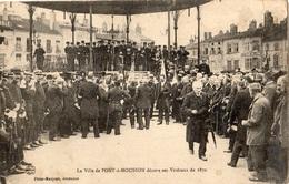 LA VILLE DE PONT-A-MOUSSON DECORE SES VETERANS DE 1870 - Pont A Mousson