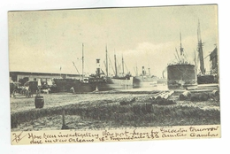CPA Marine - Postcard - A Snug Harbor Slip N°3 Port Arthur Texas 1908 - Copyright Trost - Winifred San Antonio - Paquebots