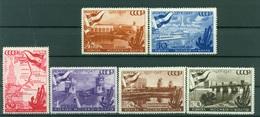 URSS 1947 - Y & T N. 1144/49 - Canal De La Volga - 1923-1991 UdSSR