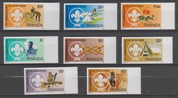 Rwanda 1983 1141-1148 1318-1325 Imperf ** MNH - Rwanda
