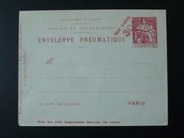 Entier Postal Enveloppe Pneumatique Pour Paris - Postal Stamped Stationery