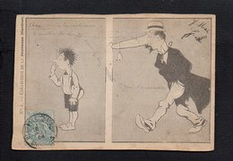 """Illustrateur ( R ) / Dessin Humour Non Signé Benjamin Rabier ( Carte à Découper Dans Une Revue""""Jeunesse Illustrée""""  ) - Non Classés"""