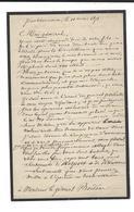 GUERRE DE 1870 - Armée Des Vosges  Lieutenant De Vaisseau WYTS (  3 è Bat. Artillerie ) Lettre à Bordone 11.3.1871 - Autógrafos