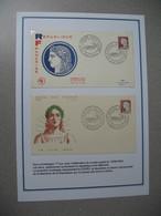 FDC 1960 Marianne De Decaris N° 1263 Musée Postal Saint-Romain Avec Comme Présentation Cères Et Marianne - FDC