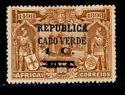 ! ! Cabo Verde - 1921 Vasco Gama On Africa W/OVP 4 C - Af. 166 - MH - Isola Di Capo Verde