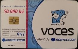 Telefonkarte Rumänien - Werbung - Voces - 01.2002 - Rumänien