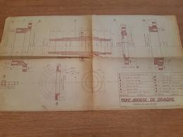 Plan De Pont Arrière De Draisine 1963 - Ferrovie
