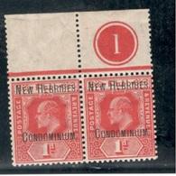 BRITISH NEW HEBRIDES1908/9: Michel8 Mnh** Margin Pair Cat.Value 50Euros ($57) - Andere
