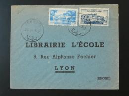 Lettre Cover Oblit. Zghorta Pour Lyon Thème Pont Bridge Liban Lebanon 1950 - Liban