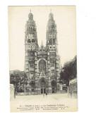 Cpa - 37 - Tours -  Cathédrale St Gatien - A.P. 15 - Publicité PICON - Travaux échafaudage - Tours