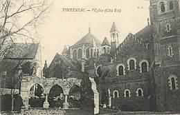 - Ille Et Vilaine -ref-C90 - Tinteniac - Eglise - Verso Tarif Cartes Postales Imprimerie Française Chalons Sur Saône - - France
