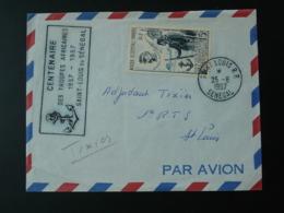 Lettre Centenaire Des Troupes Africaines Faidherbe Obl. St Louis Senegal AOF 1957 - A.O.F. (1934-1959)