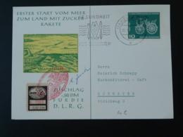 Carte Postcard Transportée Par Catapulte Rakete Raketenpost Espace Space Allemagne Germany 1961 - Covers & Documents