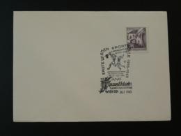 Obliteration Sur Lettre Postmark On Cover Basketball Autriche Austria 1965 - Basketball