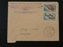 Lettre Cover Aero-Club De Pointe Noire Aviation Congo 1966 - Andere