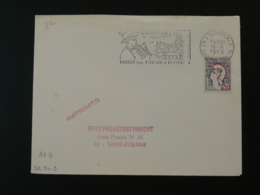 Flamme Sur Lettre Postmark On Cover Cornemuse Bagpipe Costume Folklore 29 Quimperlé Finistere 1966 - Música