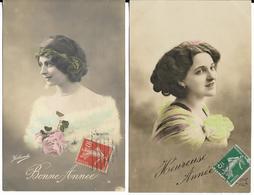 Lot De 4 Cpa Portrait De Femmes - Cartes Postales